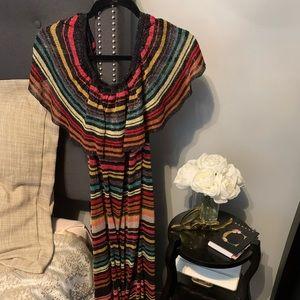 NWOT Zara Knit Shimmery OfftheShoulder Maxi Size M